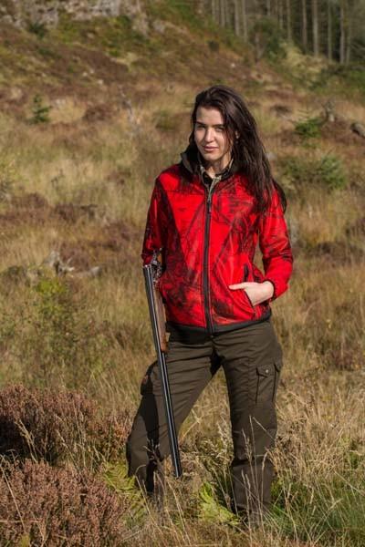 Shooterking Mossy Red Damensoftshelljacke D1210/1