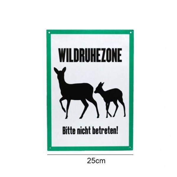 """""""Wildruhezone - Bitte nicht betreten"""" Aluminiumschild"""