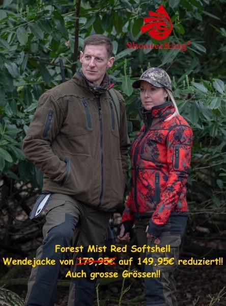 Shooterking Forest Mist Red Softshell Wendejacke