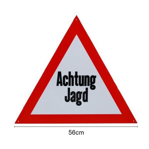 """""""Achtung Jagd"""" Aluminiumschild"""
