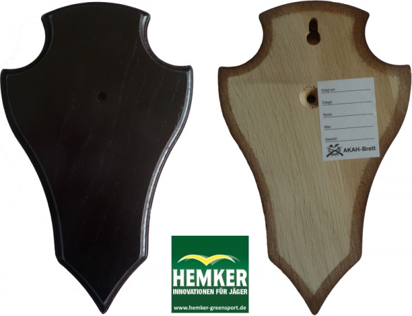 Gehörnbrett 19x12cm spitze Form dunkel